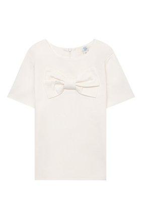 Детское блузка ZHANNA & ANNA белого цвета, арт. ZAWB13072120   Фото 1 (Рукава: Короткие; Ростовка одежда: 10 - 11 лет   140 - 146см, 9 лет   134 см, 8 лет   128 см, 7 лет   122 см)