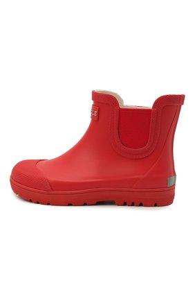 Детские резиновые ботинки AIGLE красного цвета, арт. S01722/CHELSEA 2   Фото 2 (Материал внутренний: Текстиль; Материал внешний: Резина; Кросс-КТ: резиновые)