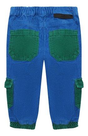 Детские хлопковые брюки STELLA MCCARTNEY синего цвета, арт. 603356/SRK85   Фото 2 (Материал внешний: Хлопок; Ростовка одежда: 9 мес   74 см, 12 мес   80 см, 18 мес   86 см, 24 мес   92 см, 6 мес   68 см)