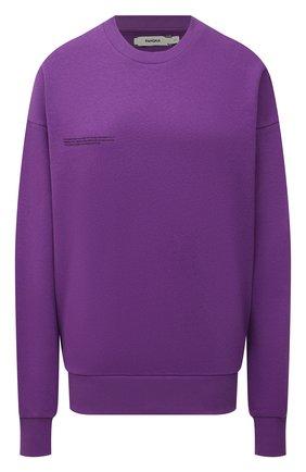 Мужские хлопковый свитшот PANGAIA фиолетового цвета, арт. 20FCU01-056-FM0R02   Фото 1 (Рукава: Длинные; Материал внешний: Хлопок; Длина (для топов): Стандартные; Женское Кросс-КТ: Свитшот-одежда; Стили: Спорт-шик)
