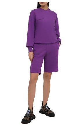 Мужские хлопковый свитшот PANGAIA фиолетового цвета, арт. 20FCU01-056-FM0R02   Фото 2 (Рукава: Длинные; Материал внешний: Хлопок; Длина (для топов): Стандартные; Женское Кросс-КТ: Свитшот-одежда; Стили: Спорт-шик)