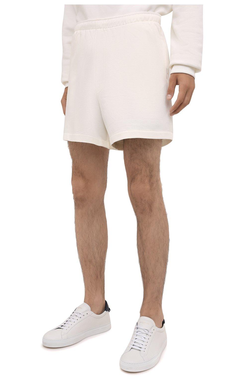Мужского хлопковые шорты PANGAIA кремвого цвета, арт. SRM0011-111-FRCM01 | Фото 6 (Женское Кросс-КТ: Шорты-одежда; Стили: Спорт-шик)