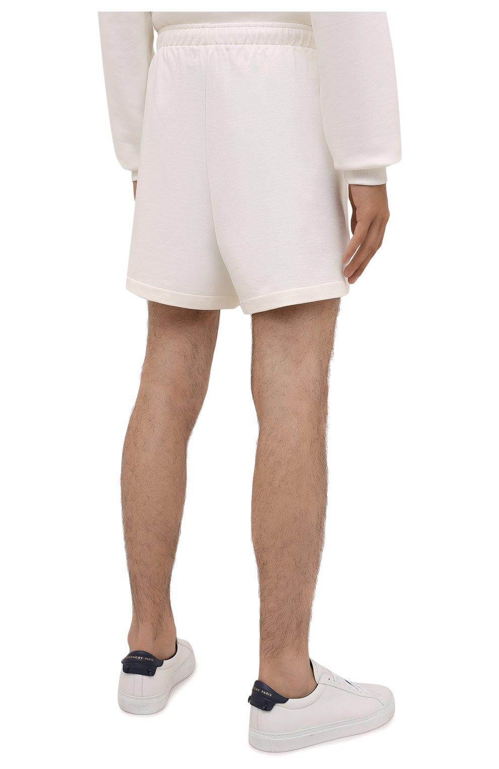 Мужского хлопковые шорты PANGAIA кремвого цвета, арт. SRM0011-111-FRCM01 | Фото 7 (Женское Кросс-КТ: Шорты-одежда; Стили: Спорт-шик)