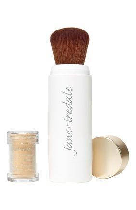 Защитная пудра с кистью powder-me spf30 refillable brush, tanned JANE IREDALE бесцветного цвета, арт. 670959114037   Фото 1