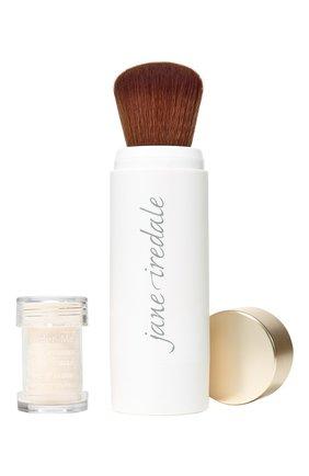 Защитная пудра с кистью powder-me spf30 refillable brush, translucent JANE IREDALE бесцветного цвета, арт. 670959114051   Фото 1