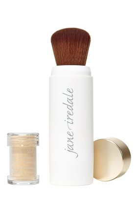 Защитная пудра с кистью powder-me spf30 refillable brush, golden JANE IREDALE бесцветного цвета, арт. 670959114075   Фото 1