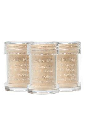 Сменный блок пудры powder-me spf 30 sunscreen refill, nude JANE IREDALE бесцветного цвета, арт. 670959114174   Фото 1