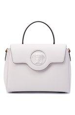 Женская сумка la medusa medium VERSACE белого цвета, арт. DBFI039/DVIT2T | Фото 1 (Материал: Натуральная кожа; Ремень/цепочка: На ремешке; Размер: medium; Сумки-технические: Сумки top-handle)