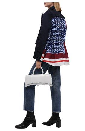 Женская куртка VALENTINO синего цвета, арт. WB3CJ2156JL   Фото 2 (Материал внешний: Синтетический материал; Рукава: Длинные; Длина (верхняя одежда): Короткие; Материал подклада: Синтетический материал; Стили: Гламурный; Кросс-КТ: Куртка)