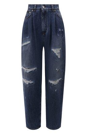 Женские джинсы DOLCE & GABBANA синего цвета, арт. FTBXUD/G8CT6 | Фото 1 (Материал внешний: Хлопок; Длина (брюки, джинсы): Стандартные; Кросс-КТ: Деним; Стили: Гламурный; Силуэт Ж (брюки и джинсы): Прямые)