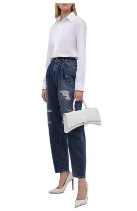 Женские джинсы DOLCE & GABBANA синего цвета, арт. FTBXUD/G8CT6 | Фото 2 (Материал внешний: Хлопок; Длина (брюки, джинсы): Стандартные; Кросс-КТ: Деним; Стили: Гламурный; Силуэт Ж (брюки и джинсы): Прямые)