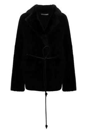 Женская шуба из овчины INES&MARECHAL черного цвета, арт. JACINTHE MERIN0S | Фото 1 (Материал внешний: Натуральный мех; Стили: Кэжуэл; Женское Кросс-КТ: Мех; Рукава: Длинные; Длина (верхняя одежда): Короткие)