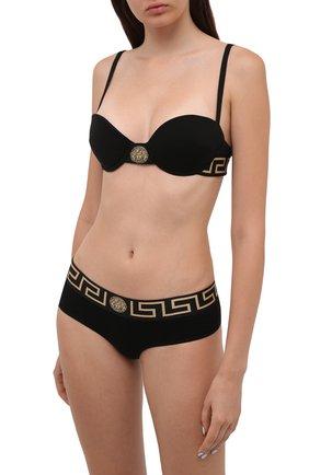 Женские трусы-шорты VERSACE черного цвета, арт. AUD01071/A232741 | Фото 2 (Материал внешний: Хлопок)