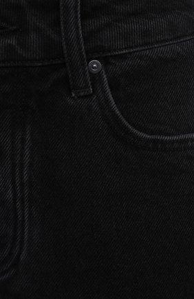 Женские джинсовые шорты PAIGE черного цвета, арт. 6462G82-2623 | Фото 5 (Женское Кросс-КТ: Шорты-одежда; Кросс-КТ: Деним; Длина Ж (юбки, платья, шорты): Мини; Материал внешний: Хлопок, Лиоцелл; Стили: Кэжуэл)