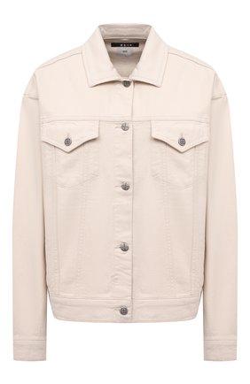 Женская джинсовая куртка KSUBI белого цвета, арт. 5000006224 | Фото 1 (Материал внешний: Хлопок; Рукава: Длинные; Длина (верхняя одежда): Короткие; Кросс-КТ: Деним, Куртка; Стили: Кэжуэл)