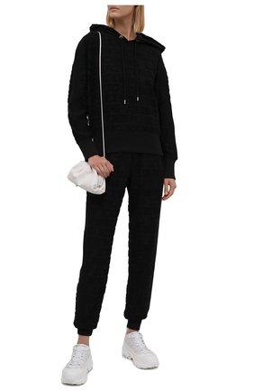 Женский хлопковое худи ICEBERG черного цвета, арт. 21I I2P0/E081/6303   Фото 2 (Длина (для топов): Стандартные; Рукава: Длинные; Материал внешний: Хлопок; Стили: Спорт-шик; Женское Кросс-КТ: Худи-одежда, Худи-спорт)