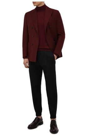 Мужские шерстяные джоггеры HUGO черного цвета, арт. 50457227 | Фото 2 (Материал внешний: Шерсть; Длина (брюки, джинсы): Стандартные; Силуэт М (брюки): Джоггеры; Стили: Кэжуэл)