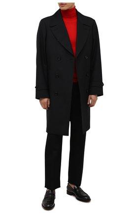 Мужской шерстяная водолазка HUGO красного цвета, арт. 50455988   Фото 2 (Материал внешний: Шерсть; Рукава: Длинные; Длина (для топов): Стандартные; Мужское Кросс-КТ: Водолазка-одежда; Принт: Без принта; Стили: Кэжуэл)