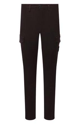 Мужские хлопковые брюки-карго STONE ISLAND коричневого цвета, арт. 7515318L1 | Фото 1 (Материал внешний: Хлопок; Силуэт М (брюки): Карго; Случай: Повседневный; Стили: Кэжуэл; Длина (брюки, джинсы): Стандартные)