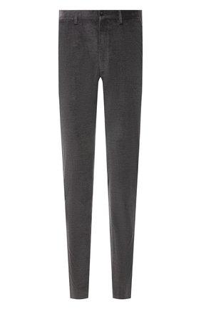 Мужские брюки из хлопка и кашемира GIORGIO ARMANI серого цвета, арт. 1SGPP0I0/T02VD | Фото 1 (Длина (брюки, джинсы): Стандартные; Материал внешний: Хлопок; Материал подклада: Купро; Случай: Повседневный; Стили: Кэжуэл)