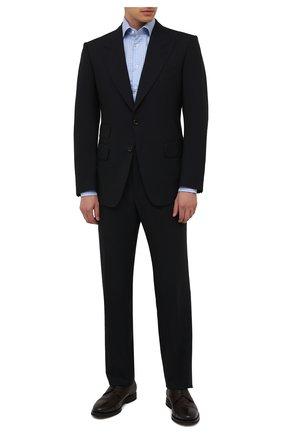 Мужские кожаные дерби H`D`S`N BARACCO темно-коричневого цвета, арт. 80222.M.0* | Фото 2 (Материал утеплителя: Натуральный мех; Стили: Классический; Мужское Кросс-КТ: Броги-обувь)