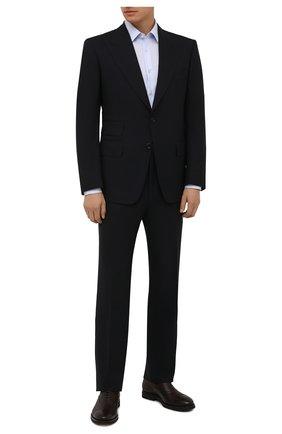 Мужские кожаные оксфорды H`D`S`N BARACCO темно-коричневого цвета, арт. 80302.0* | Фото 2 (Материал внутренний: Натуральная кожа; Стили: Классический)