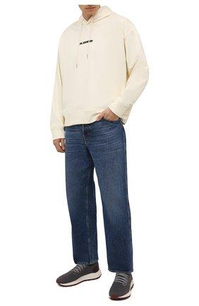 Мужские текстильные кроссовки H`D`S`N BARACCO серого цвета, арт. ARES.AC.4* | Фото 2 (Материал внешний: Текстиль; Материал внутренний: Натуральная кожа, Текстиль; Подошва: Массивная; Стили: Спорт)