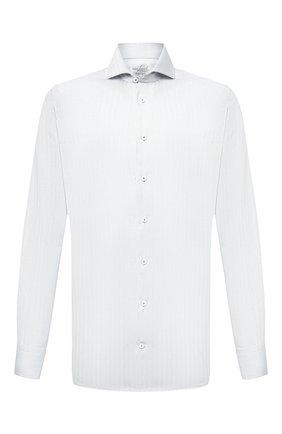 Мужская хлопковая сорочка VAN LAACK белого цвета, арт. RES0-SF/162583 | Фото 1 (Материал внешний: Хлопок; Рукава: Длинные; Длина (для топов): Стандартные; Случай: Формальный; Принт: Однотонные; Рубашки М: Regular Fit; Манжеты: На пуговицах; Стили: Классический; Воротник: Акула)