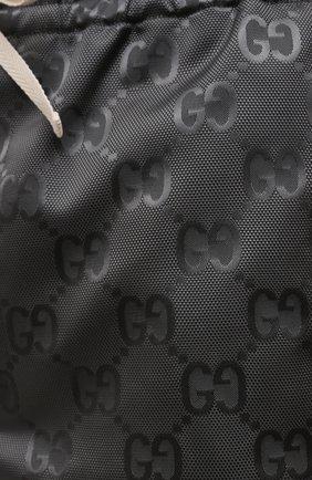 Мужские брюки GUCCI темно-серого цвета, арт. 656671/ZAEBN | Фото 5 (Стили: Ретро; Длина (брюки, джинсы): Стандартные; Случай: Повседневный; Материал внешний: Синтетический материал)