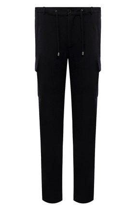 Мужские шерстяные брюки-карго FIORONI темно-синего цвета, арт. MKF23423F1 | Фото 1 (Материал внешний: Шерсть; Силуэт М (брюки): Карго; Случай: Повседневный; Стили: Кэжуэл; Мужское Кросс-КТ: Брюки-трикотаж; Длина (брюки, джинсы): Стандартные)
