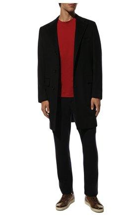 Мужские шерстяные брюки-карго FIORONI темно-синего цвета, арт. MKF23423F1 | Фото 2 (Материал внешний: Шерсть; Силуэт М (брюки): Карго; Случай: Повседневный; Стили: Кэжуэл; Мужское Кросс-КТ: Брюки-трикотаж; Длина (брюки, джинсы): Стандартные)