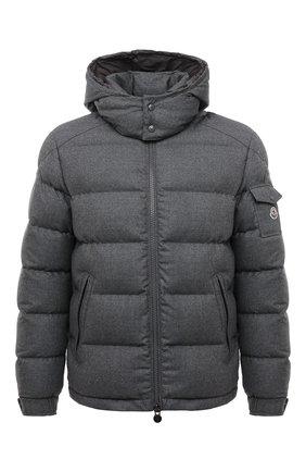 Мужская пуховая куртка montgenevre MONCLER серого цвета, арт. G2-091-1A537-00-54272 | Фото 1 (Материал подклада: Синтетический материал; Материал внешний: Шерсть; Материал утеплителя: Пух и перо; Кросс-КТ: Куртка; Мужское Кросс-КТ: пуховик-короткий; Длина (верхняя одежда): Короткие; Стили: Кэжуэл; Рукава: Длинные)