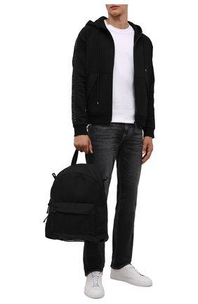Мужской хлопковая толстовка MONCLER черного цвета, арт. G2-091-8G000-10-899FL | Фото 2 (Материал внешний: Хлопок; Длина (для топов): Стандартные; Рукава: Длинные; Мужское Кросс-КТ: Толстовка-одежда; Стили: Спорт-шик)