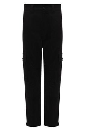 Мужские хлопковые брюки-карго MONCLER черного цвета, арт. G2-091-2A000-24-54AUW | Фото 1 (Длина (брюки, джинсы): Стандартные; Материал внешний: Хлопок; Силуэт М (брюки): Карго; Случай: Повседневный; Стили: Кэжуэл)