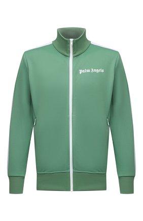 Мужской толстовка PALM ANGELS зеленого цвета, арт. PMBD001F21FAB0015501 | Фото 1 (Рукава: Длинные; Длина (для топов): Стандартные; Материал внешний: Синтетический материал; Мужское Кросс-КТ: Толстовка-одежда; Стили: Спорт-шик)
