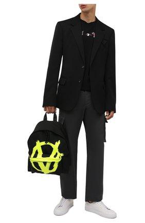 Мужской текстильный рюкзак VETEMENTS черного цвета, арт. UA52BA640Y 1302/M   Фото 2 (Материал: Текстиль; Ремень/цепочка: На ремешке)