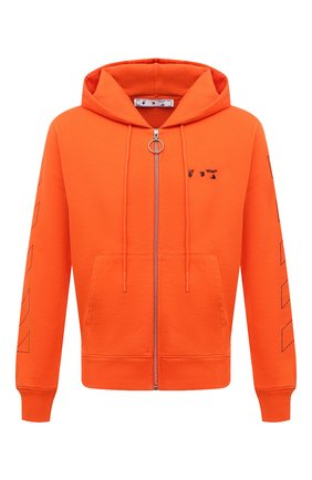 Мужской хлопковая толстовка OFF-WHITE оранжевого цвета, арт. 0MBE001F21FLE002 | Фото 1 (Материал внешний: Хлопок; Длина (для топов): Стандартные; Рукава: Длинные; Мужское Кросс-КТ: Толстовка-одежда; Стили: Гранж)