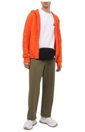 Мужской хлопковая толстовка OFF-WHITE оранжевого цвета, арт. 0MBE001F21FLE002 | Фото 2 (Материал внешний: Хлопок; Длина (для топов): Стандартные; Рукава: Длинные; Мужское Кросс-КТ: Толстовка-одежда; Стили: Гранж)