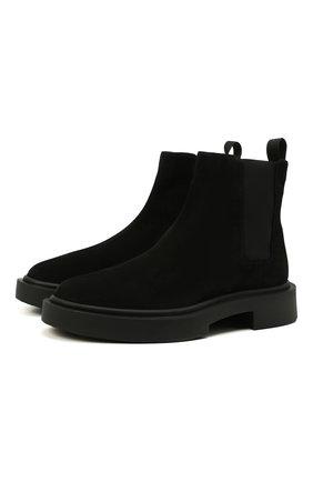 Мужские замшевые челси aston g GIUSEPPE ZANOTTI DESIGN черного цвета, арт. IU10030/001 | Фото 1 (Подошва: Массивная; Материал внутренний: Натуральная кожа; Мужское Кросс-КТ: Сапоги-обувь, Челси-обувь; Материал внешний: Замша)