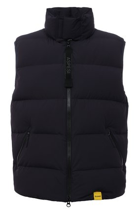 Мужской пуховый жилет ASPESI темно-синего цвета, арт. W1 I 1I32 L589 | Фото 1 (Материал внешний: Синтетический материал; Материал подклада: Синтетический материал; Материал утеплителя: Пух и перо; Кросс-КТ: Куртка, Пуховик; Стили: Кэжуэл; Длина (верхняя одежда): Короткие)