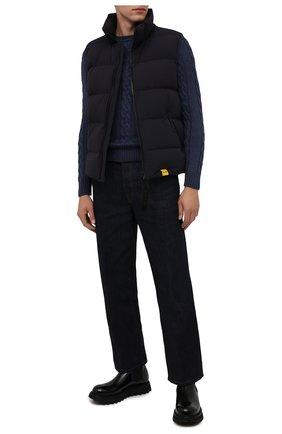Мужской пуховый жилет ASPESI темно-синего цвета, арт. W1 I 1I32 L589 | Фото 2 (Материал внешний: Синтетический материал; Материал подклада: Синтетический материал; Материал утеплителя: Пух и перо; Кросс-КТ: Куртка, Пуховик; Стили: Кэжуэл; Длина (верхняя одежда): Короткие)
