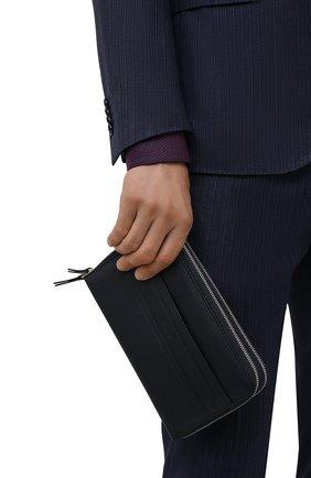 Мужской кожаный футляр для документов BRIONI темно-синего цвета, арт. 0HTB0L/P9721 | Фото 2 (Кросс-КТ: футляры для документов)