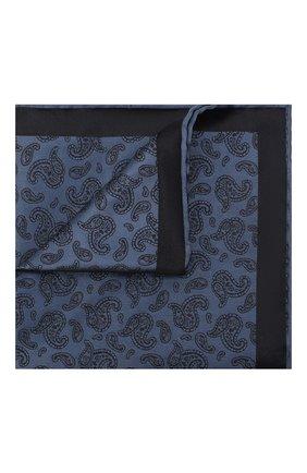 Мужской шелковый платок BRIONI синего цвета, арт. 071000/P0465 | Фото 1 (Материал: Текстиль, Шелк)
