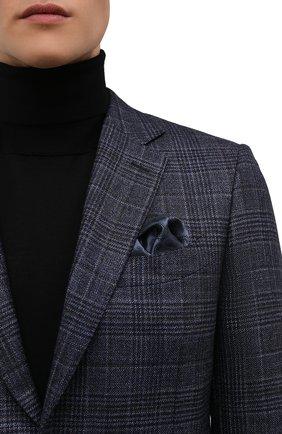 Мужской шелковый платок BRIONI синего цвета, арт. 071000/P0465 | Фото 2 (Материал: Текстиль, Шелк)
