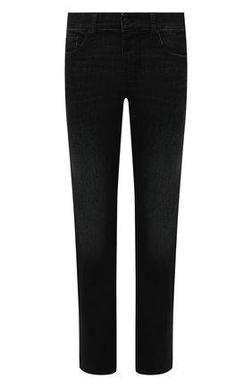 Мужские джинсы 7 FOR ALL MANKIND черного цвета, арт. JSMNB820LK   Фото 1 (Материал внешний: Хлопок; Длина (брюки, джинсы): Стандартные; Кросс-КТ: Деним; Силуэт М (брюки): Прямые; Детали: Потертости; Стили: Кэжуэл)