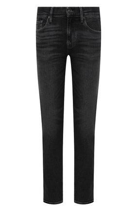 Мужские джинсы 7 FOR ALL MANKIND серого цвета, арт. JSMNB900TW | Фото 1 (Материал внешний: Хлопок; Длина (брюки, джинсы): Стандартные; Кросс-КТ: Деним; Силуэт М (брюки): Прямые; Детали: Потертости; Стили: Кэжуэл)