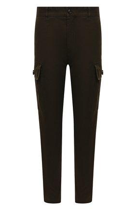 Мужские хлопковые брюки-карго DSQUARED2 хаки цвета, арт. S74KB0599/S39021 | Фото 1 (Материал внешний: Хлопок; Длина (брюки, джинсы): Стандартные; Силуэт М (брюки): Карго; Случай: Повседневный; Стили: Милитари)