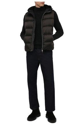 Мужской пуховый жилет perseo-sh MOORER темно-серого цвета, арт. PERSE0-SH/M0UGL100059-TEPA174 | Фото 2 (Материал утеплителя: Пух и перо; Материал внешний: Синтетический материал; Материал подклада: Синтетический материал; Кросс-КТ: Куртка, Пуховик; Стили: Кэжуэл; Длина (верхняя одежда): Короткие)