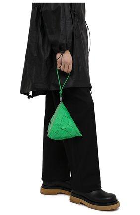 Мужская кожаный клатч BOTTEGA VENETA зеленого цвета, арт. 667045/VCQ72 | Фото 2 (Материал: Натуральная кожа)