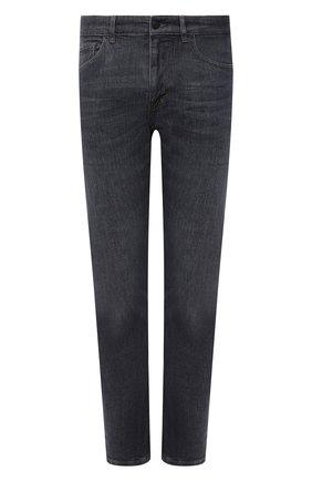 Мужские джинсы BOSS серого цвета, арт. 50458129 | Фото 1 (Материал внешний: Хлопок; Кросс-КТ: Деним; Силуэт М (брюки): Прямые; Стили: Кэжуэл; Длина (брюки, джинсы): Стандартные)